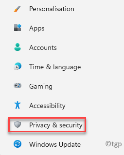 Settings Privacy & Security