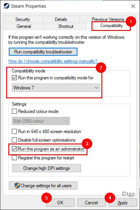 Steam Properties Compatibility Mode Min