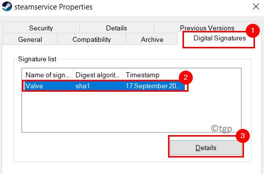 Steamservice Properties Digital Signatures Min