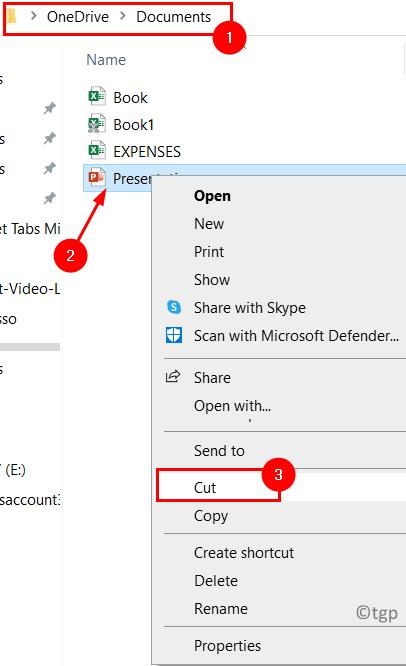 Synchronized Folder Cut File Location Min