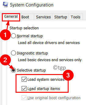 System Configuration Selective Startup Min