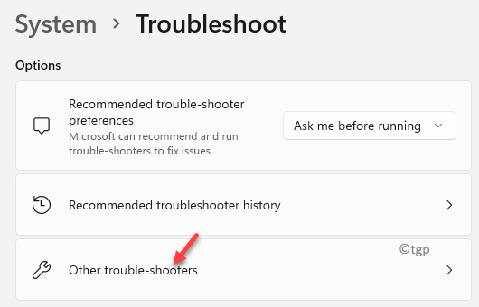System Troubleshoot Other Trouble Shooters