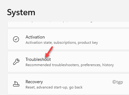 System Troubleshoot