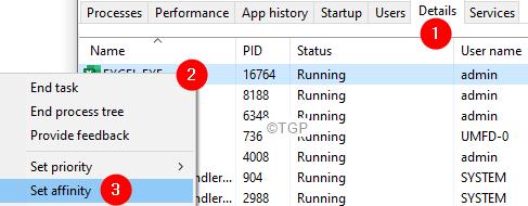 Task Manager Details Set Affinity