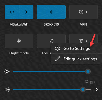Taskbar Action Center Focus Assist Icon Right Click Go To Settings