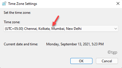 Time Zone Settings Set The Time Zone Select Correct Rime Zone Ok