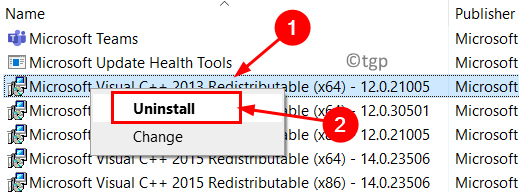 Uninstall Visual C++ Min