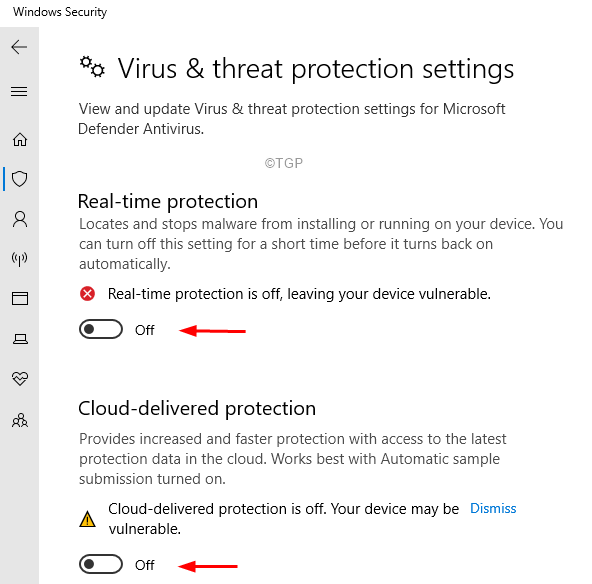 Virus And Threat Protection Settings