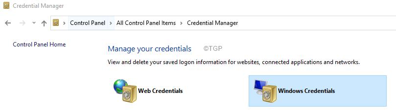 Windows Credentials