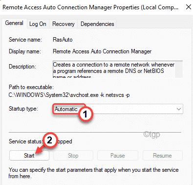 Automatic Start Min