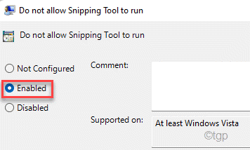 Enabled Snipping Min