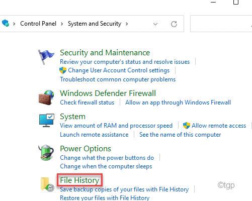 File History Min
