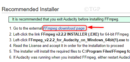 Go To Ffmpeg Lib Downloads Page Min