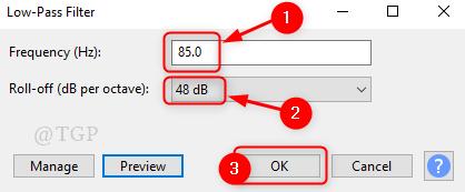 Low Pass Filter 48db 85