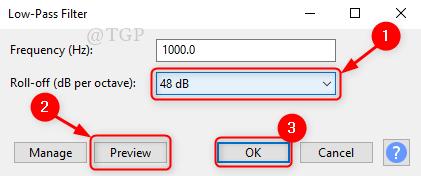Low Pass Filter Window New