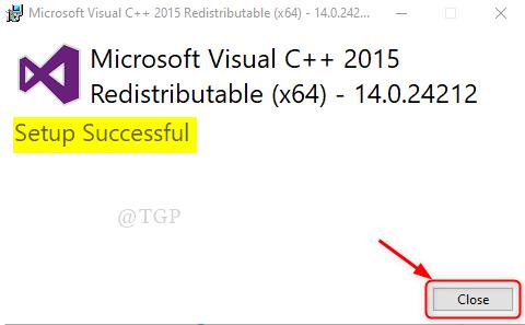 Ms Visual C++ Setup Succesful Win