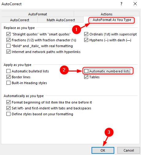 Ms Word Autoformat Min