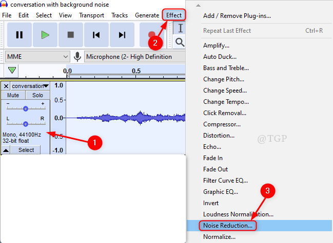 Noise Reduction From Menu New Min