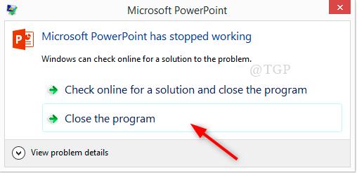 Powerpoint Stopped Error Min