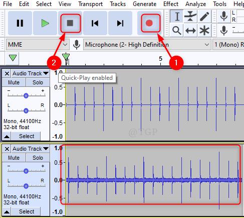 Record The Rhythm Track Audacity Min