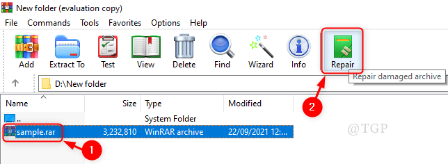 Repair Archived File Min