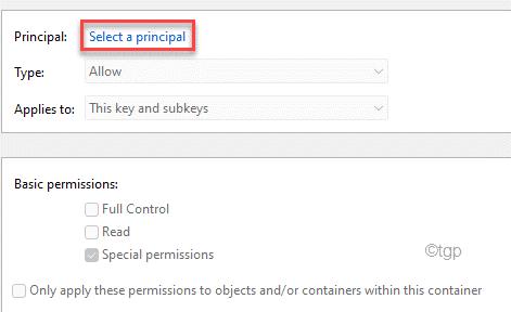 Select A Principal Min