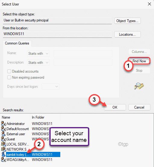 Select Account Min