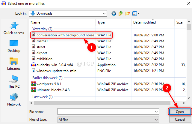 Select Audio File Audacity New Min