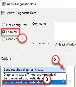 Set Eabled Send Optional Data Min