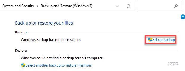 Set Up Backup Min