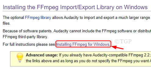 Step2 To Navigate Ffmpeg Library Audacity Min