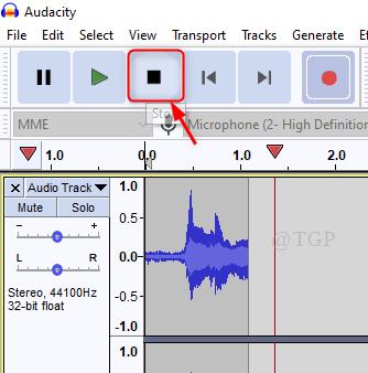 Stop Recording Voice Audacity New