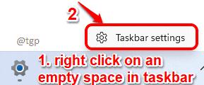2 Taskbar Settings Optimized