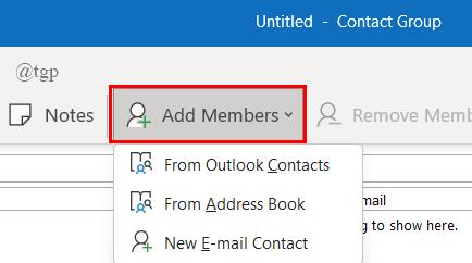 Add Members Contact Gp