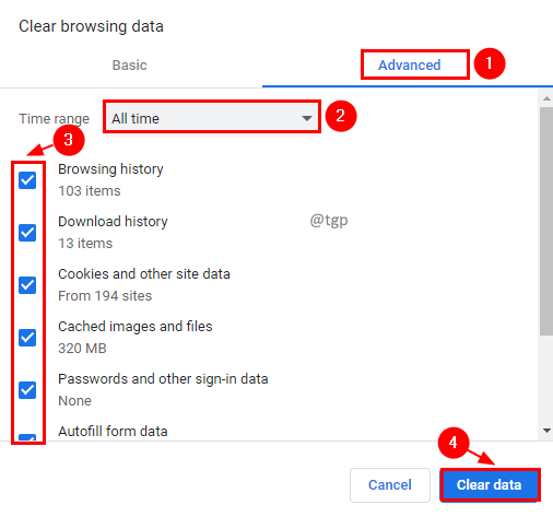Clear Browsing Data Min
