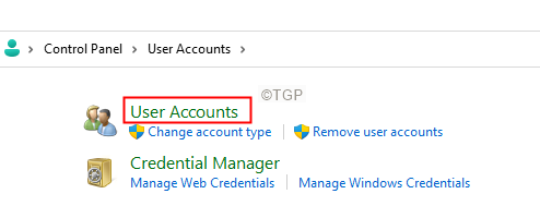 Click On User Accounts