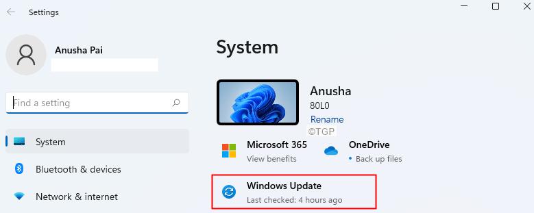 Click On Windows Update Min