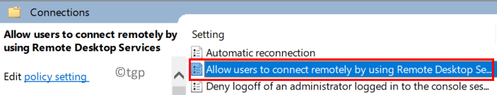 Connections Settings Min