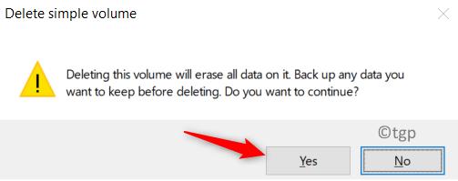 Deleting Volume Confirmation Min