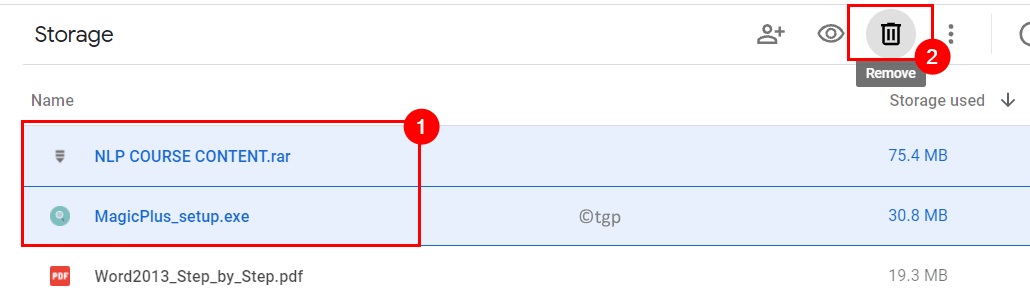 Drive Files Select Multiple Delete Min