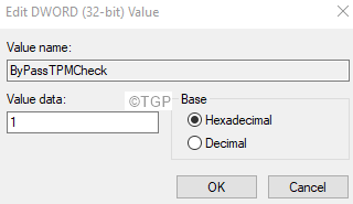 Edit Dword For Bypasstpmcheck