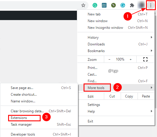 Extension Settings Min