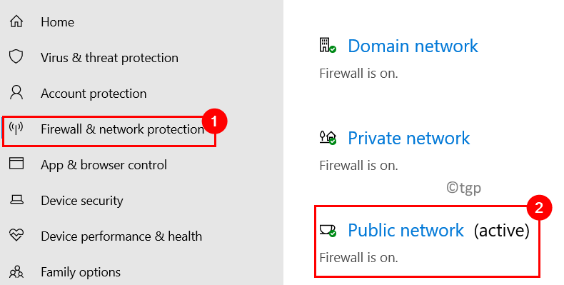 Firewall Network Protection Select Active Network Min