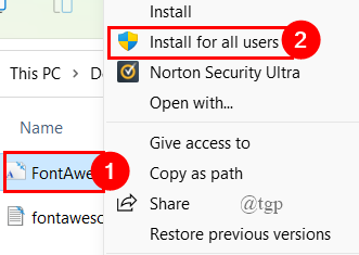 Install Generated File