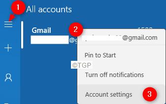 Mail App Account Settings