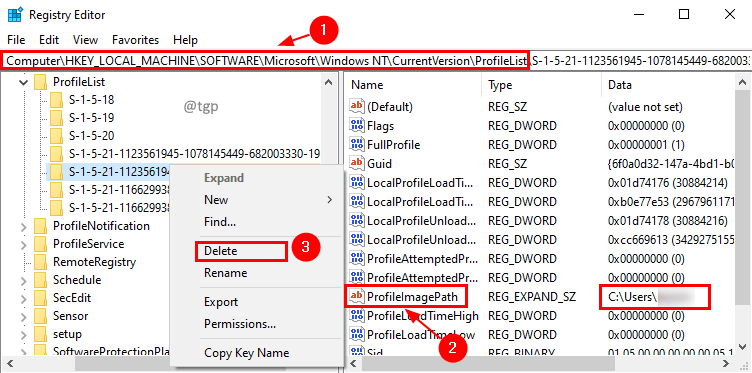 Registry Delete Min