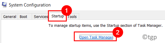 System Configuration Startup Open Task Manager Min