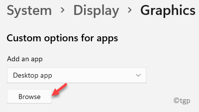 System Display Graphics Custom Options For Apps Add An App Browse