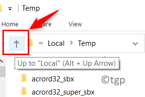Temp Folder Uparrow Min