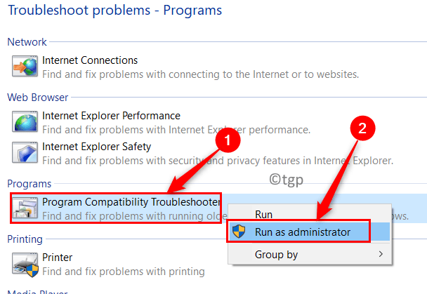 Troubleshoot Computer Problems Programs Compatibility Troubleshooter Min